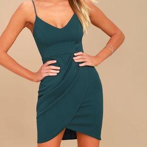 Lulu's Teal Blue Bodycon Dress